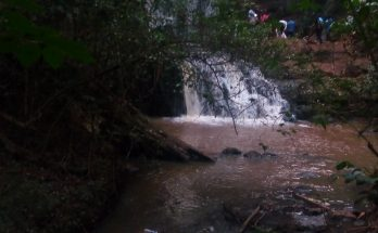 Waterfall inside the Karura Forest
