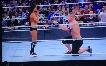 John Cena Proposes to Nikki Bella Wrestlemania 33