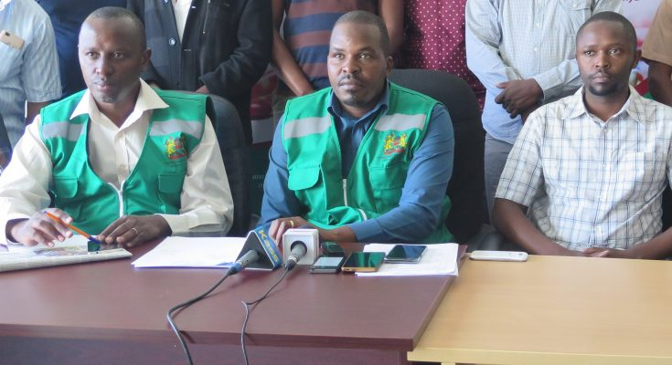 pharmacy and poisons board officials addressing the media in Nakuru